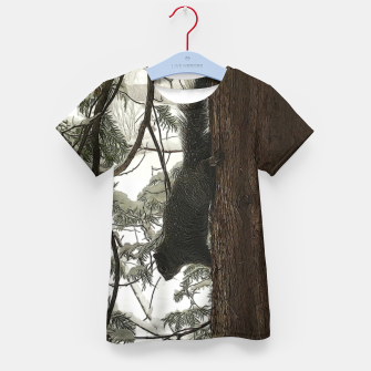 Thumbnail image of Squirrel on a Snowy Tree Kid's t-shirt, Live Heroes