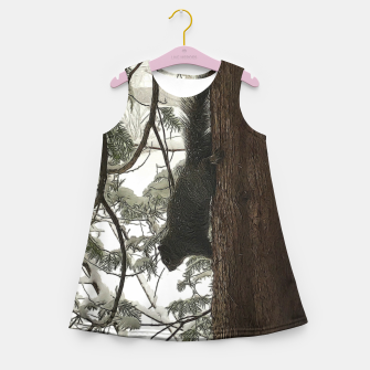 Thumbnail image of Squirrel on a Snowy Tree Girl's summer dress, Live Heroes