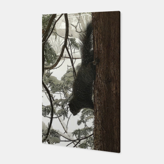 Thumbnail image of Squirrel on a Snowy Tree Canvas, Live Heroes