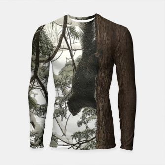 Thumbnail image of Squirrel on a Snowy Tree Longsleeve rashguard , Live Heroes