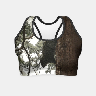 Thumbnail image of Squirrel on a Snowy Tree Crop Top, Live Heroes