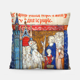 Thumbnail image of Medieval Arthur Legend Pillow, Live Heroes