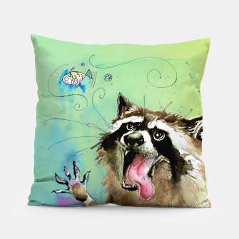 Thumbnail image of Hungry Raccoon Pillow, Live Heroes