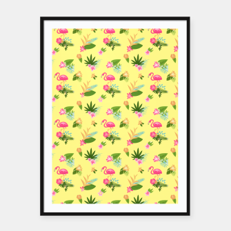 Thumbnail image of Yellow Flamingo Framed poster, Live Heroes