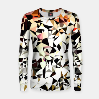Thumbnail image of geometric triangle pattern abstract in pink brown black Women sweater, Live Heroes