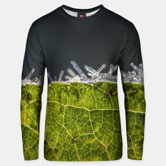 Thumbnail image of frozen leaf #1 Unisex sweater, Live Heroes