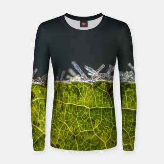 Thumbnail image of frozen leaf #1 Women sweater, Live Heroes