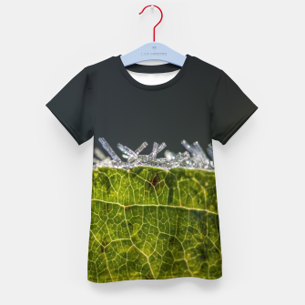 Thumbnail image of frozen leaf #1 Kid's t-shirt, Live Heroes