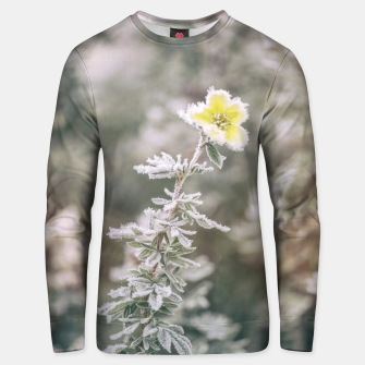 Thumbnail image of a frozen flower #1 Unisex sweater, Live Heroes