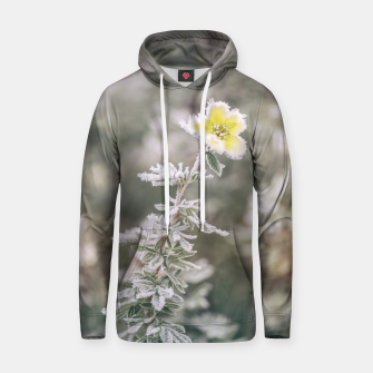 Thumbnail image of a frozen flower #1 Hoodie, Live Heroes