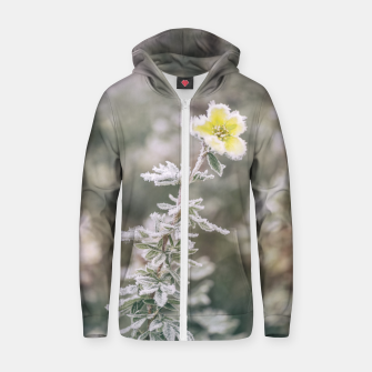 Thumbnail image of a frozen flower #1 Zip up hoodie, Live Heroes