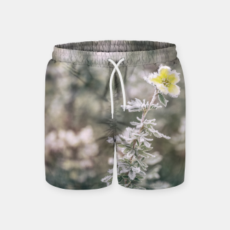 Thumbnail image of a frozen flower #1 Swim Shorts, Live Heroes