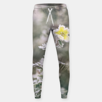 Thumbnail image of a frozen flower #1 Sweatpants, Live Heroes