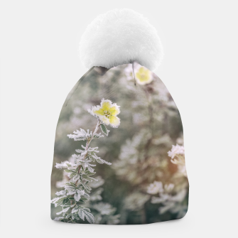 Thumbnail image of a frozen flower #1 Beanie, Live Heroes