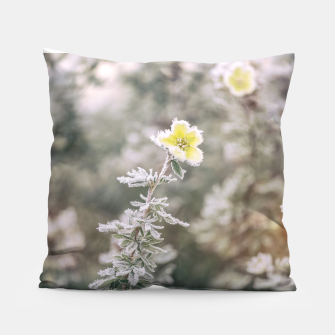 Thumbnail image of a frozen flower #1 Pillow, Live Heroes