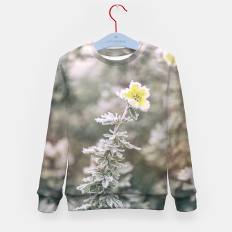 Thumbnail image of a frozen flower #1 Kid's sweater, Live Heroes