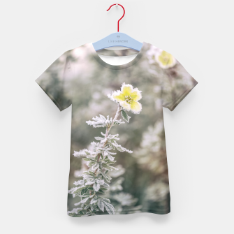 Thumbnail image of a frozen flower #1 Kid's t-shirt, Live Heroes