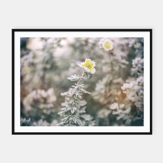 Thumbnail image of a frozen flower #1 Framed poster, Live Heroes