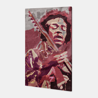 Hypnotic guitar Canvas Bild der Miniatur