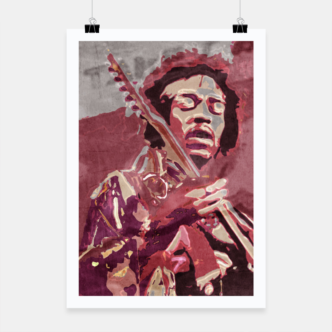Foto Hypnotic guitar Poster - Live Heroes