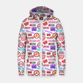 Miniatur No chill pattern / White Zip up hoodie, Live Heroes