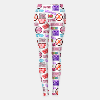 Miniatur No chill pattern / White Leggings, Live Heroes