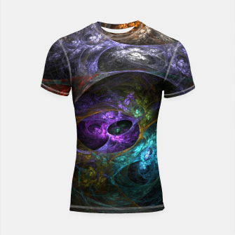 Thumbnail image of Abstracted Shortsleeve rashguard, Live Heroes