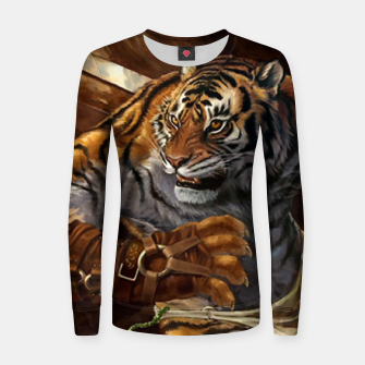 Thumbnail image of Fighter Tiger Women sweater, Live Heroes