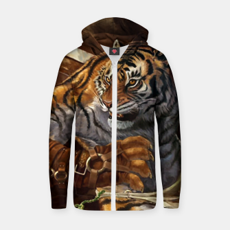Thumbnail image of Fighter Tiger Zip up hoodie, Live Heroes