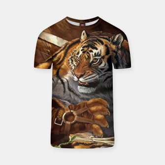 Thumbnail image of Fighter Tiger T-shirt, Live Heroes