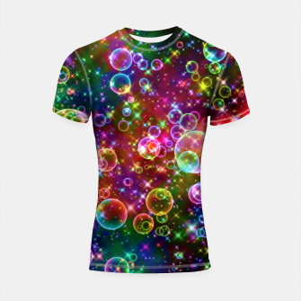 Thumbnail image of Abstract Bubble Shortsleeve rashguard, Live Heroes