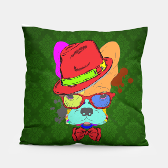 Thumbnail image of Colorful Frenchie Pillow, Live Heroes