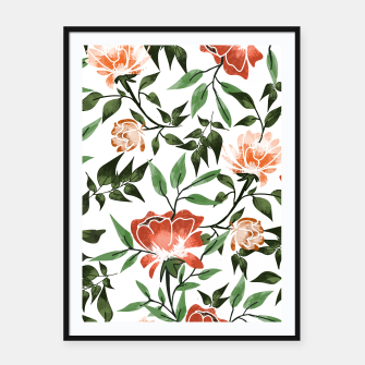 Thumbnail image of Floral Feels Framed poster, Live Heroes