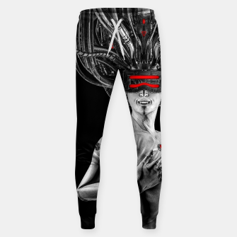 Thumbnail image of Hardwired - Cyberpunk Gamer Pin-up Girl Sweatpants, Live Heroes