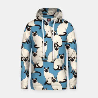 Thumbnail image of Siamese cats blue pattern Hoodie, Live Heroes