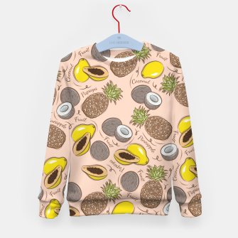 Thumbnail image of Exotic Fruits Kid's sweater, Live Heroes