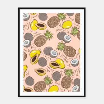 Thumbnail image of Exotic Fruits Framed poster, Live Heroes