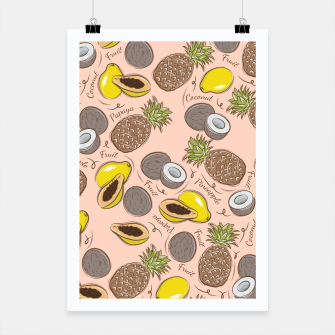 Thumbnail image of Exotic Fruits Poster, Live Heroes