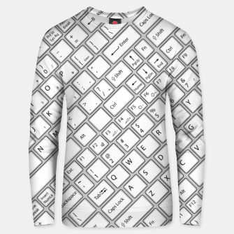 Miniaturka Keyboarded - The ultimate computer keyboard pattern for boys Unisex sweater, Live Heroes