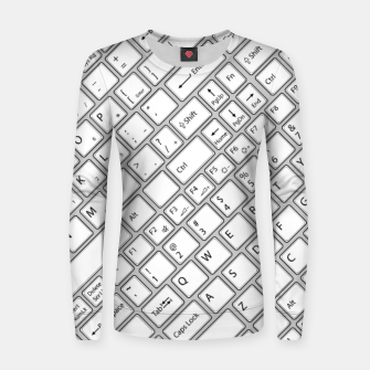 Miniaturka Keyboarded - The ultimate computer keyboard pattern for boys Women sweater, Live Heroes