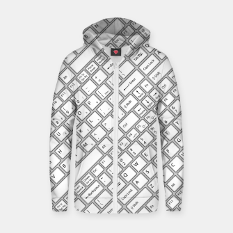 Thumbnail image of Keyboarded - The ultimate computer keyboard pattern for boys Zip up hoodie, Live Heroes