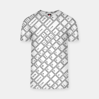 Miniaturka Keyboarded - The ultimate computer keyboard pattern for boys T-shirt, Live Heroes