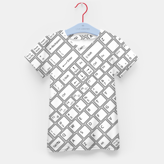Miniaturka Keyboarded - The ultimate computer keyboard pattern for boys Kid's t-shirt, Live Heroes