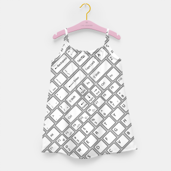 Miniaturka Keyboarded - The ultimate computer keyboard pattern for boys Girl's dress, Live Heroes