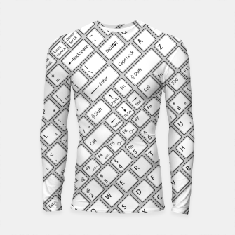 Thumbnail image of Keyboarded - The ultimate computer keyboard pattern for boys Longsleeve rashguard , Live Heroes