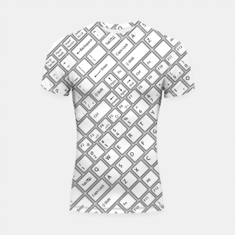 Miniaturka Keyboarded - The ultimate computer keyboard pattern for boys Shortsleeve rashguard, Live Heroes