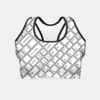 Miniaturka Keyboarded - The ultimate computer keyboard pattern for boys Crop Top, Live Heroes