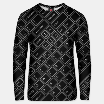 Thumbnail image of Keyboarded BLACK - The ultimate computer keyboard pattern for boys Unisex sweater, Live Heroes