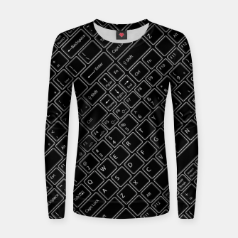 Keyboarded BLACK - The ultimate computer keyboard pattern for boys Women sweater thumbnail image