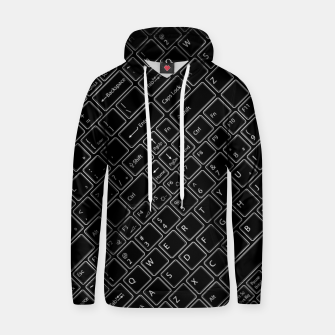 Thumbnail image of Keyboarded BLACK - The ultimate computer keyboard pattern for boys Hoodie, Live Heroes